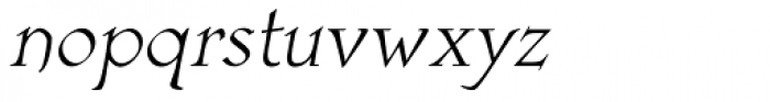 Astaire Pro Italic Font LOWERCASE
