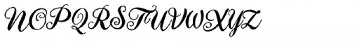 Aster Script Font UPPERCASE
