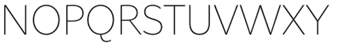 Asterisk Sans Pro Extra Light Font UPPERCASE