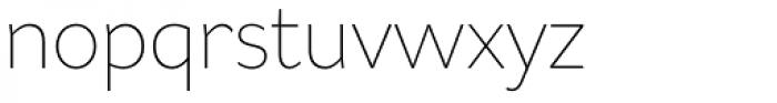 Asterisk Sans Pro Extra Light Font LOWERCASE