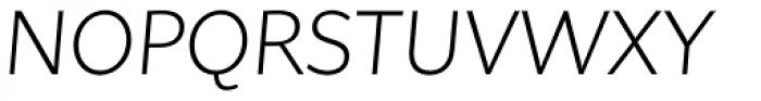 Asterisk Sans Pro Light Italic Font UPPERCASE
