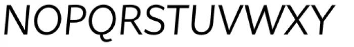 Asterisk Sans Pro Regular Italic Font UPPERCASE