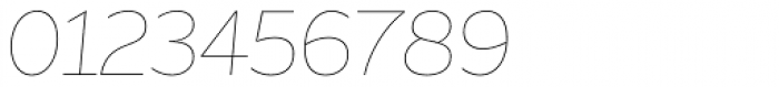 Asterisk Sans Pro Ultra Light Italic Font OTHER CHARS