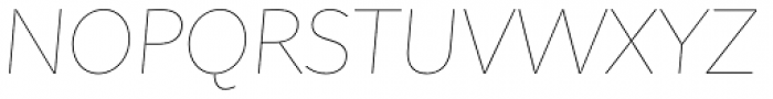 Asterisk Sans Pro Ultra Light Italic Font UPPERCASE