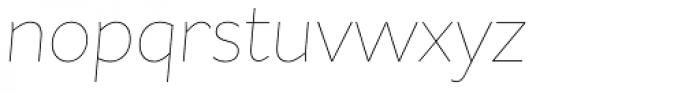 Asterisk Sans Pro Ultra Light Italic Font LOWERCASE