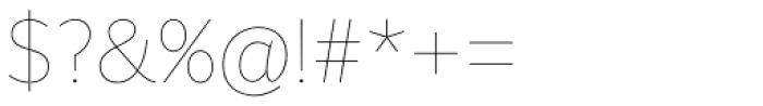 Asterisk Sans Pro Ultra Light Font OTHER CHARS