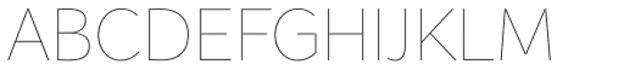 Asterisk Sans Pro Ultra Light Font UPPERCASE