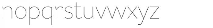 Asterisk Sans Pro Ultra Light Font LOWERCASE