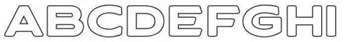 Asterone Outline Bold Font LOWERCASE
