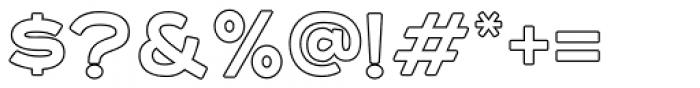 Asterone Outline Regular Font OTHER CHARS