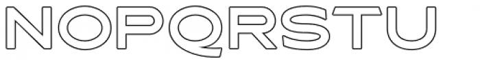 Asterone Outline Regular Font UPPERCASE