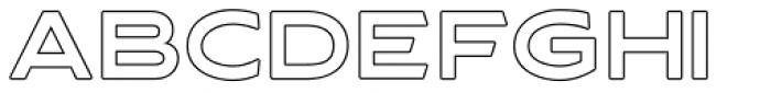 Asterone Outline Regular Font LOWERCASE