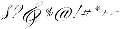 Aston Script Font OTHER CHARS