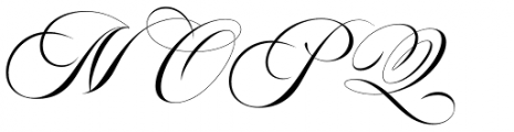 Aston Script Font UPPERCASE