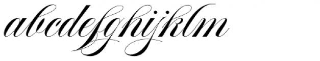 Aston Script Font LOWERCASE