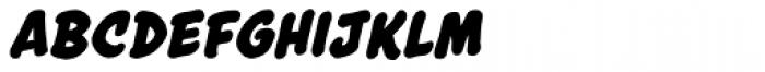Astounder Round BB Bold Italic Font LOWERCASE