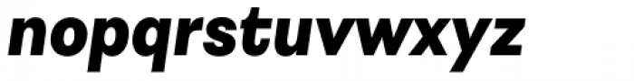 Astrid Grotesk Heavy Italic Font LOWERCASE