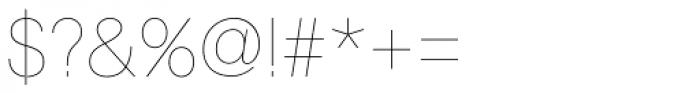 Astrid Grotesk Ultra Light Font OTHER CHARS
