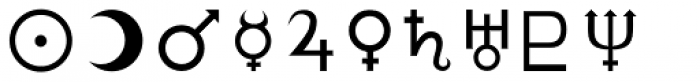 Astrologer Font UPPERCASE