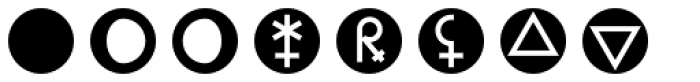 Astrotype N Dot Font LOWERCASE