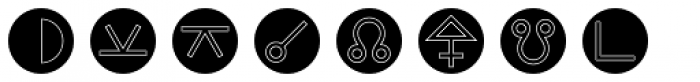 Astrotype N Outline Font LOWERCASE