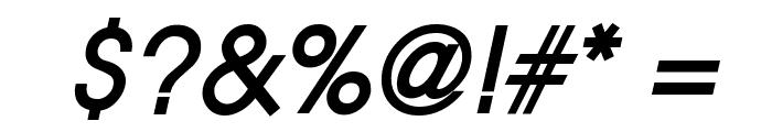 Atilla BoldItalic Font OTHER CHARS