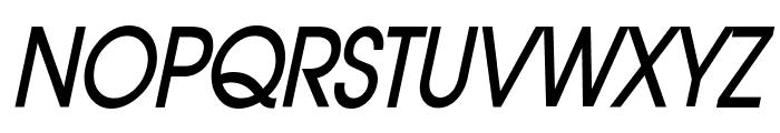 Atilla Condensed BoldItalic Font UPPERCASE