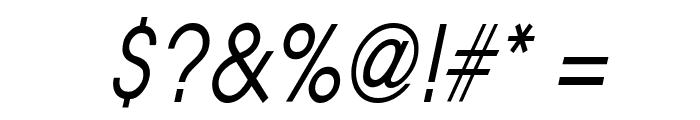 Atilla Condensed Italic Font OTHER CHARS