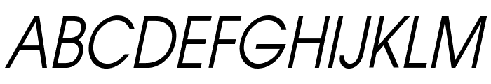Atilla Condensed Italic Font UPPERCASE