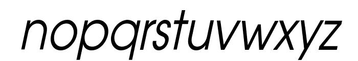 Atilla Condensed Italic Font LOWERCASE