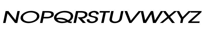Atilla Extended BoldItalic Font UPPERCASE