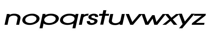 Atilla Extended BoldItalic Font LOWERCASE