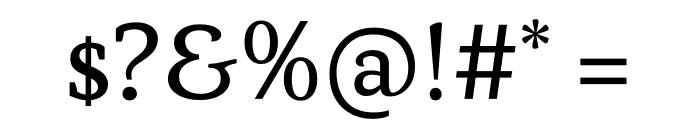 Atiza Text Regular Font OTHER CHARS