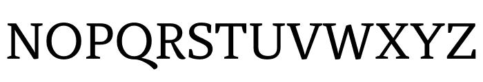 Atiza Text Regular Font UPPERCASE