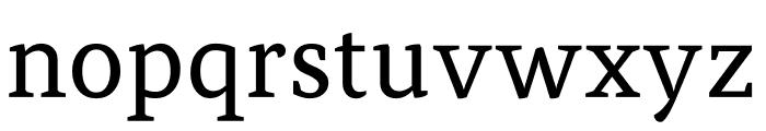Atiza Text Regular Font LOWERCASE