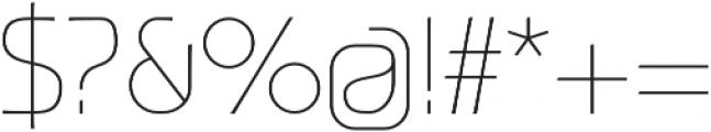 Ata 25 Thin otf (100) Font OTHER CHARS