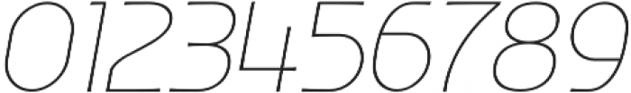 Ata 26 Thin Slant otf (100) Font OTHER CHARS