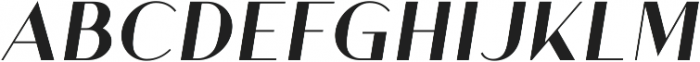 Athena Bold Italic ttf (700) Font UPPERCASE