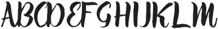 Athena Script otf (400) Font UPPERCASE