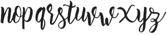 Athena Script otf (400) Font LOWERCASE