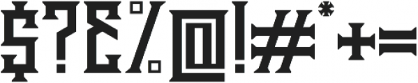 Athenry High otf (400) Font OTHER CHARS