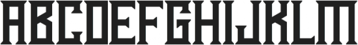 Athenry High otf (400) Font LOWERCASE