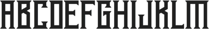Athenry Regular otf (400) Font UPPERCASE