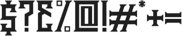 Athenry Sharp otf (400) Font OTHER CHARS