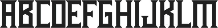 Athenry Sharp otf (400) Font LOWERCASE