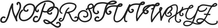Athera Script Regular otf (400) Font UPPERCASE