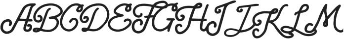 Athera Script Regular ttf (400) Font UPPERCASE