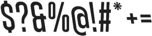 Athletic Condensed Backslanted otf (400) Font OTHER CHARS