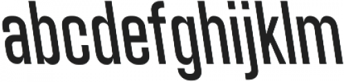 Athletic Condensed Backslanted otf (400) Font LOWERCASE