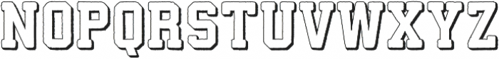Athletico 3D otf (400) Font LOWERCASE